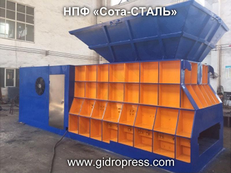 Контейнерный пресс для металлолома